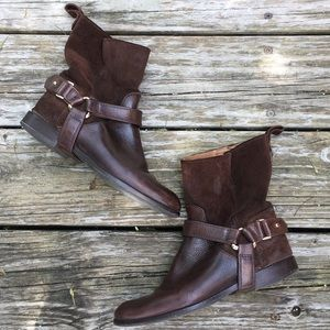 Massimo Dutti Suede Leather Riding Ankle Boots